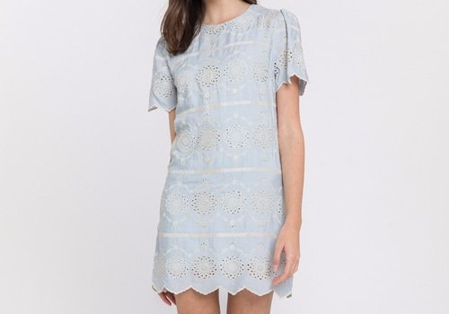 [ENGLISH FACTORY]Lace Shift Dress
