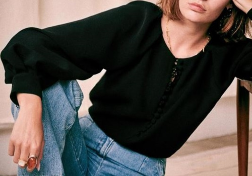[Sezane]AMY BLOUSE_BLACK