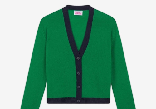 [FROM FUTURE]Dual-Tone Short Cardigan_green