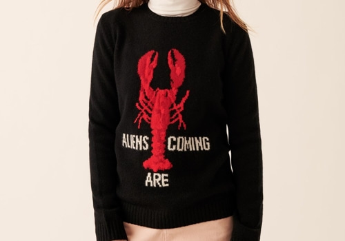 [FROM FUTURE]Crewneck Lobster_BLACK