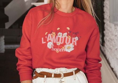 [BALZAC PARIS]LOVE THAT BOOMS SWEATSHIRT_RED