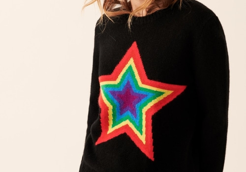 [FROM FUTURE]crewneck Multicolored Star_BLACK