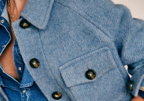 [Sezane]JOE COAT_VINTAGE BLUE