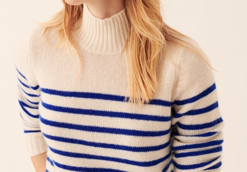 [FROM FUTURE]Mock-Neck Breton Pullover_ECRU