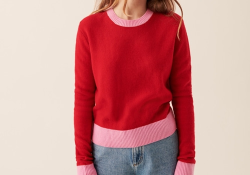 [FROM FUTURE]Lightweight Bicolored Crop Crewneck_RED